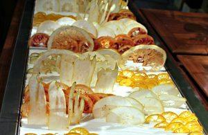 Michelin restaurant Steirereck: fruit decoration