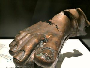Roman Vienna: bronze foot