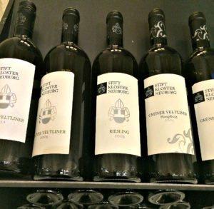 Vienna art wine tour: wine bottles of Klosterneuburg