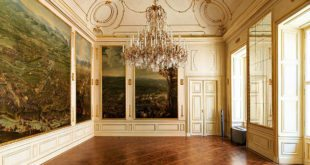 Vienna Winter Palace Prince Eugen: room with battleground paintings