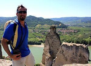 Wachau-Tour: Blick von der Ruine Duernstein