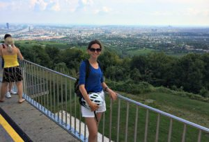 Vienna bicycle tour: Kahlenberg panoramic view
