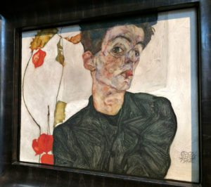Egon Schiele Museum: self portrait