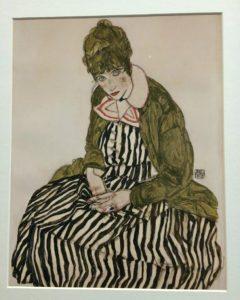Egon Schiele Museum: Edith In A Striped Dress
