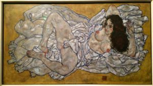 Egon Schiele Museum: Reclining Woman
