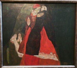 Egon Schiele Museum: Caress (Cardinal and Nun)