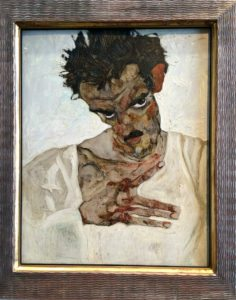 Egon Schiele Museum: Self Portrait With Lowered Head, 1912