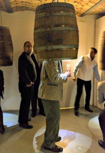 Burgenland winery tour: Hoepler wine barrel