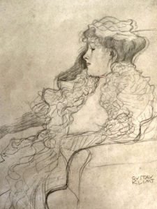 Klimt Villa Vienna: drawing of a woman
