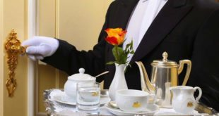 Honeymoon in Vienna: butler at Hotel Imperial
