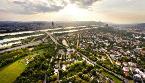 Boat Trips: Vienna Danube seen from Donauturm
