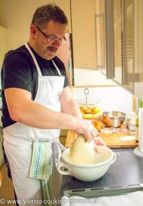 Vienna cooking classes: preparing dough