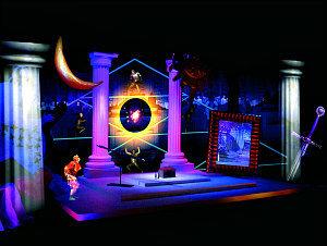 Mozart house Vienna: Magic Flute installation