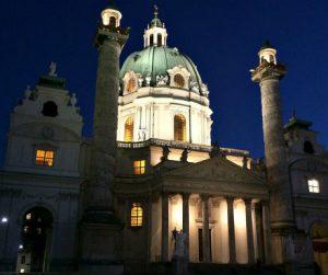 Vienna Christmas Market: Church St. Charles Borromeo