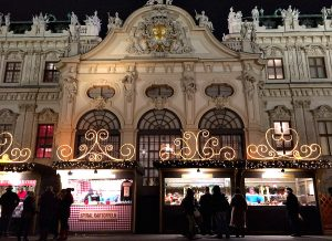 Vienna Christmas market at Belvedere Palace