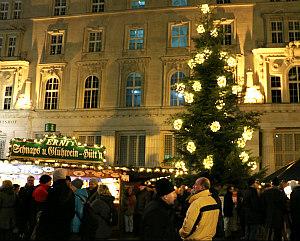 Vienna Christmas market at Freyung square