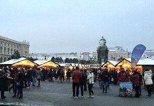 Vienna Christmas Market Maria Theresien Platz