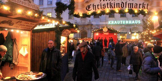 Vienna Christmas market on Freyung