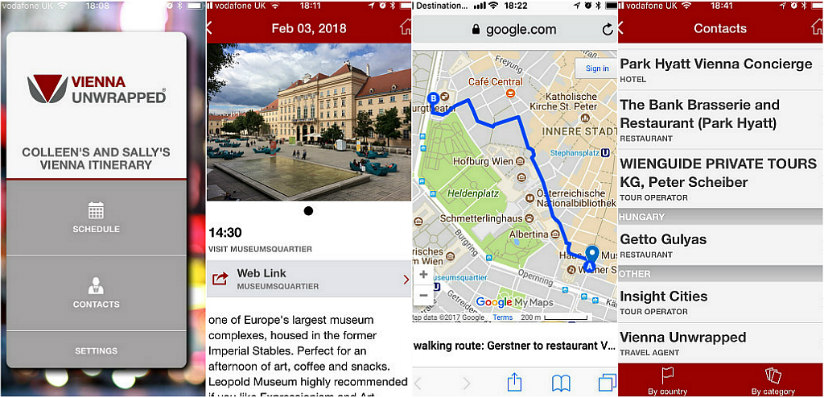 Vienna Travel Planning app