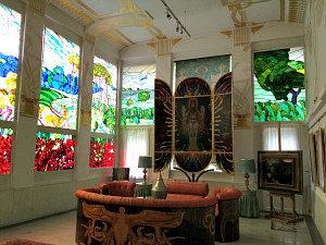Otto Wagner Villa: Jugendstil glass windows at Adolf Boehm Hall
