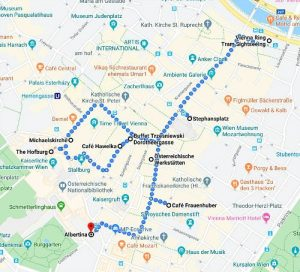Vienna Travel Planning: walking route