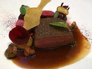 Michelin restaurant Silvio Nickol Vienna: gourmet beef dish