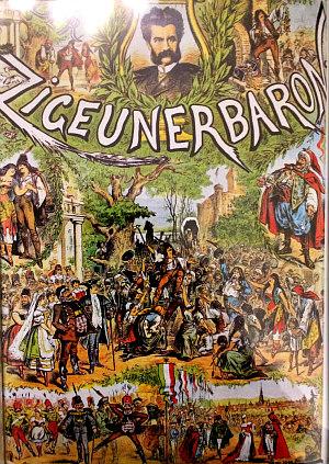 Johann Strauss operetta Zigeunerbaron: poster