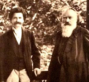 Johann Strauss and Johannes Brahms