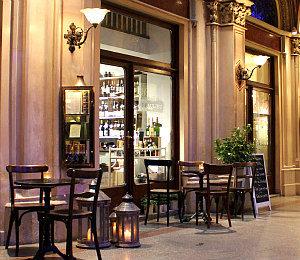 restaurants in Vienna: Ferstel passageway