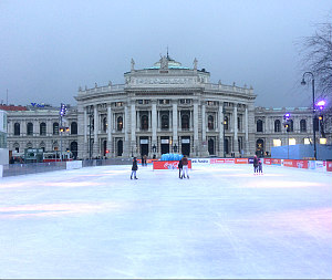 Things to do in Vienna January: Ice rink