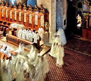 Cistercian abbey Heiligenkreuz: monks
