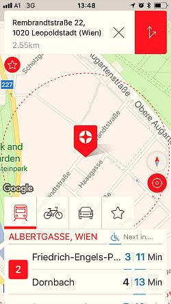 Vienna transport: Wien Mobil app