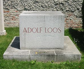 Loos' tomb stone at Central Cemetery