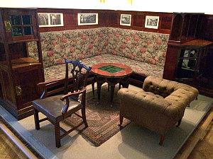 Adolf Loos Vienna: corner seating room at MAK museum