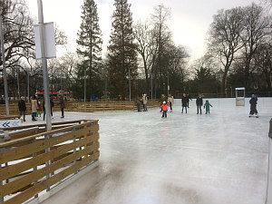 Eislaufen Wien: Eisbahn im Rathauspark