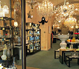 Vienna culture shopping: Lobmeyr glass shop