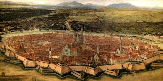 Vienna History: view of Vienna from Josefstadt, 1690
