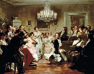 Wiener Musikerfahrung: Schubertiade, von Julius Schmid, 1896