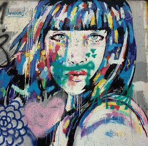 Vienna street art in Mariahilf district