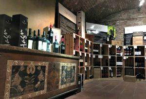 wine cellar at Porta Dextra