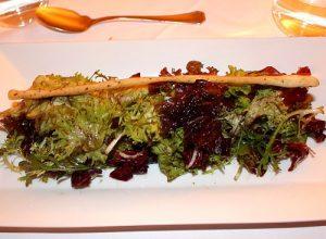 Starter salad at restaurant Walter Bauer