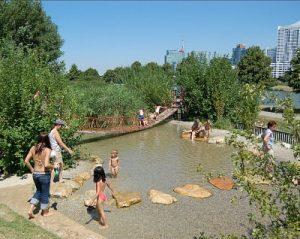 water playground in Vienna