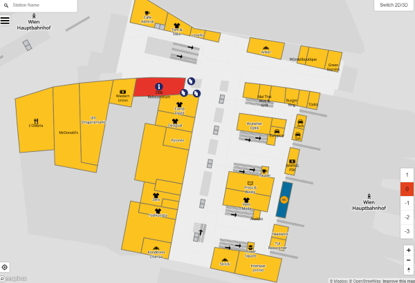 Vienna Central Station map