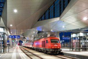 Vienna Central Station, train