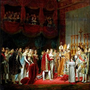 Napoleon marries Habsburg Princess Marie Louise; by George Rouget