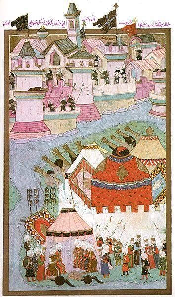 Siege of Vienna, Ottoman miniature, 1588