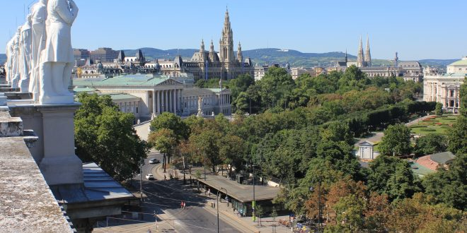 Vienna Ringstrasse from above