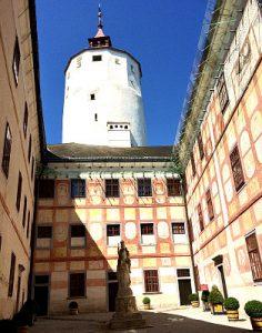 Forchtenstein castle courtyard