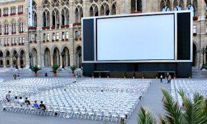 film festival on Rathausplatz in Vienna