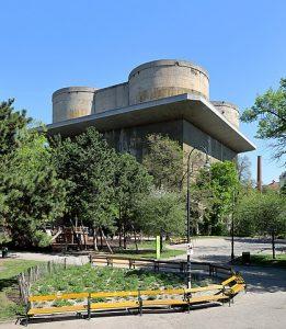 Flak tower in Vienna's Arenbergpark